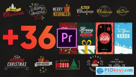 Videohive Christmas Elements Pack-MOGRT 25296111