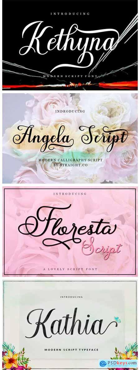 8 Elegant Script Fonts