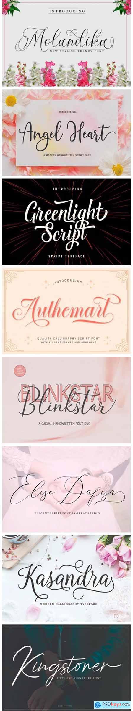 8 Stylish Script Fonts