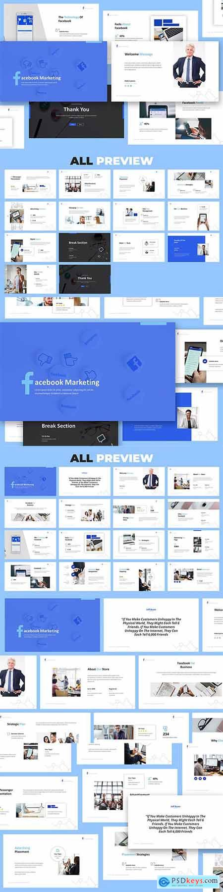 Facebook Marketing Powerpoint, Keynote and Google Slides Presentation