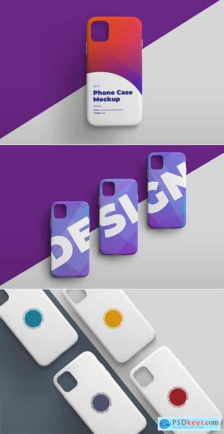 Smartphone Phone Case Mockup Set 307901165