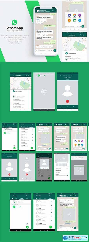 WhatsApp Mock-Up Template