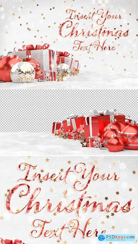 Christmas Card Mockup with Ornaments 308764488