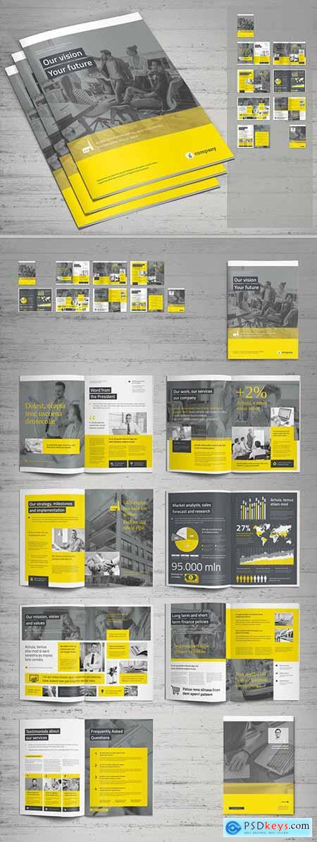 Yellow and Gray Business Brochure Layout 309423262