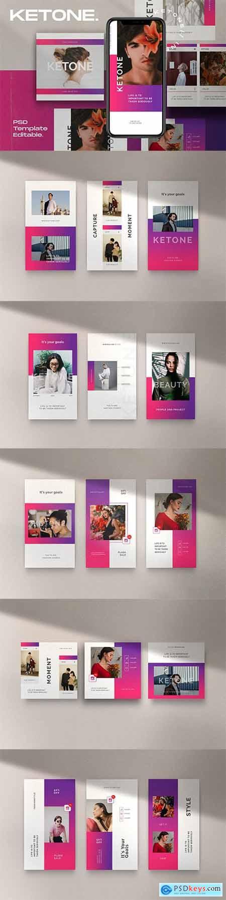 Ketone Pack 2 - Instagram Post + Stories