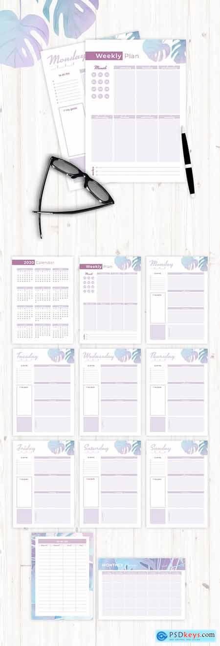 Pastel Style Planner Layout 307213614