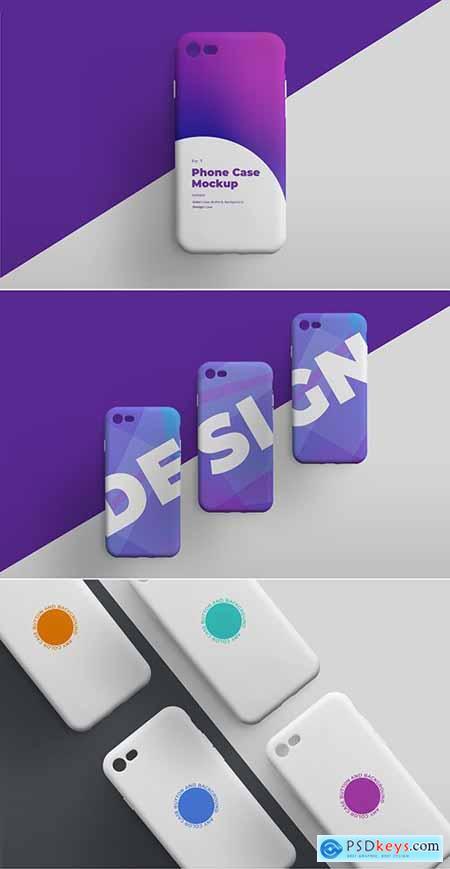 Smartphone Phone Case Mockup Set 307899785
