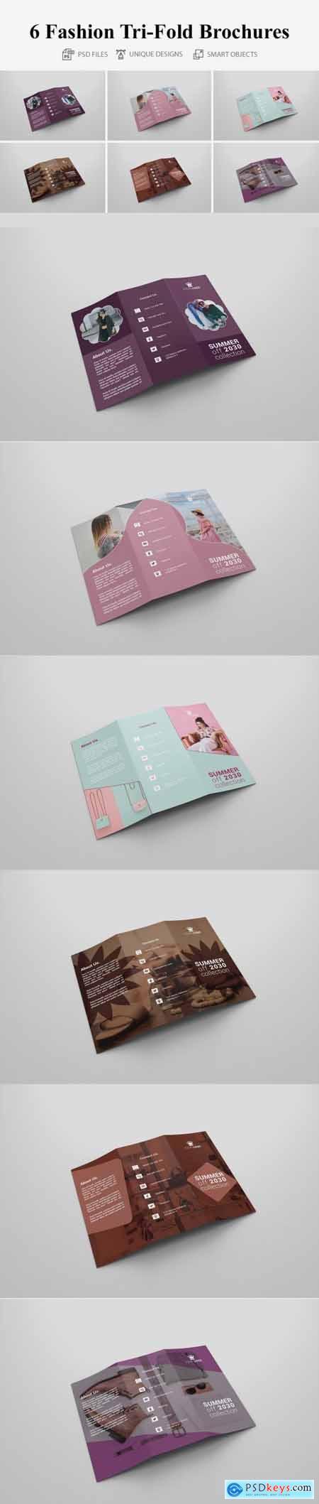 6 Fashion Tri Fold Bochures 4363873