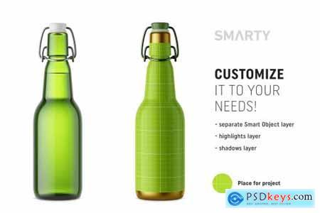 Beer bottle mockup 4324989