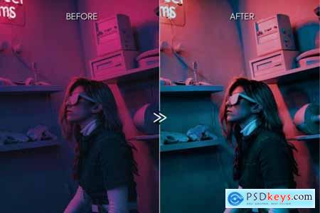 Moody NEON LIGHTS Lightroom Presets 4335929