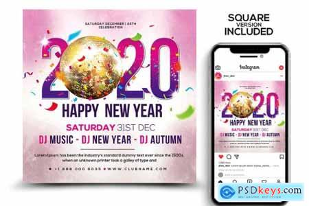 New Years Flyer Template 4351834