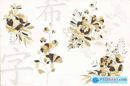 Black and Gold Eastern Design Set