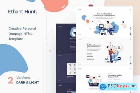 Ethant Hunt - Personal PSD Template