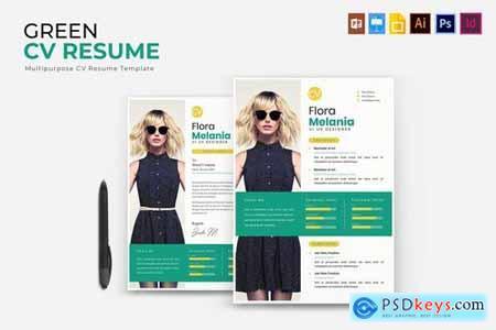 Green CV & Resume