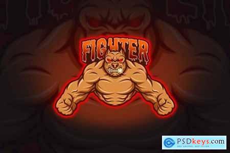 Fighter - Mascot & Esport Logo