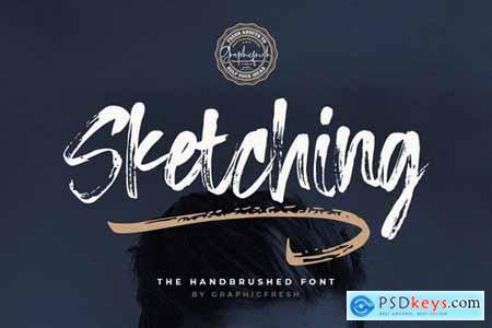 Sketching - The Handbrushed Typeface 4380147
