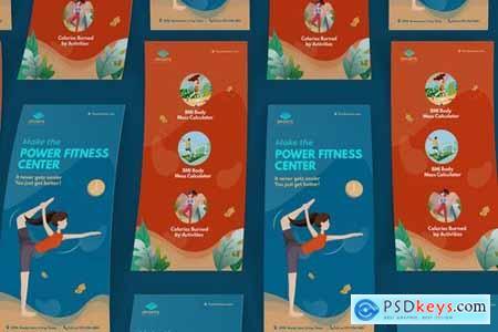 Sport Activities DL Rackcard Illustration Template