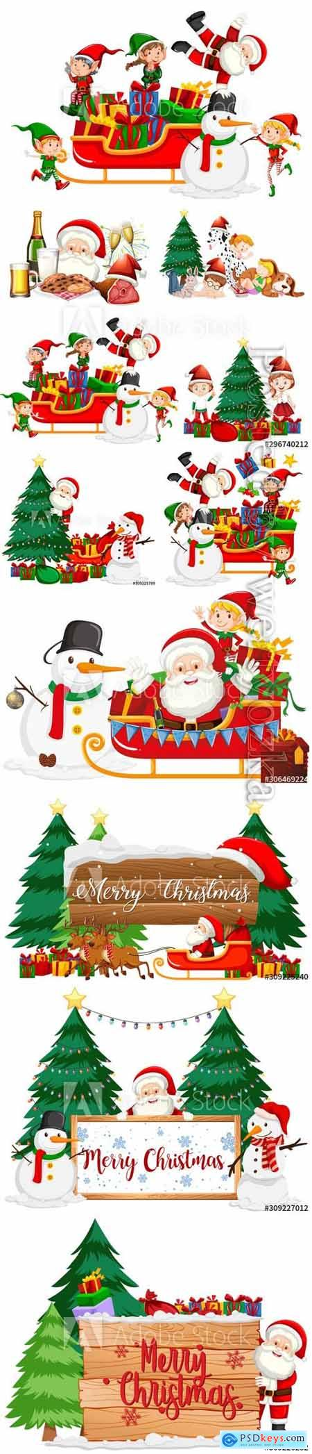 Christmas theme with ornaments on many products