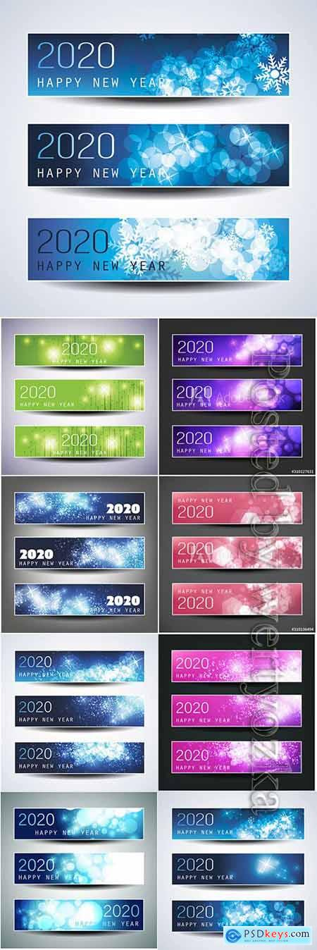 Christmas, New Year banners vector design 2020