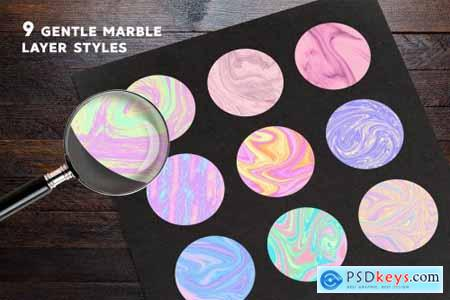 Vivid Marble Effect For Photoshop 3818827
