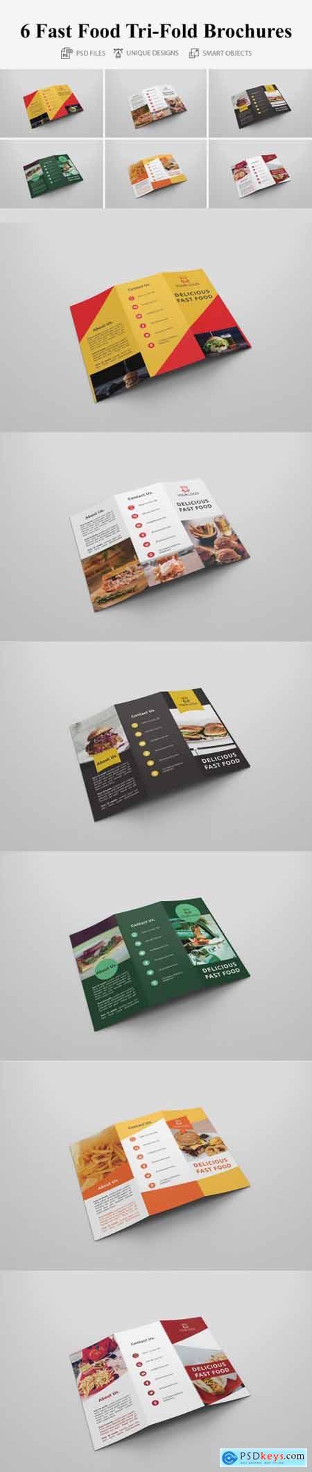 Fast Food Tri-fold Brochures 4273298