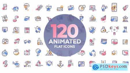 Videohive 120 animated icons 22423691