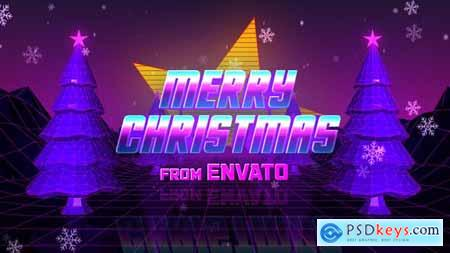 Videohive Retro 80s Christmas Wishes 25315698