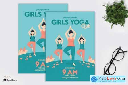 Girls Yoga Club - Flyer GR