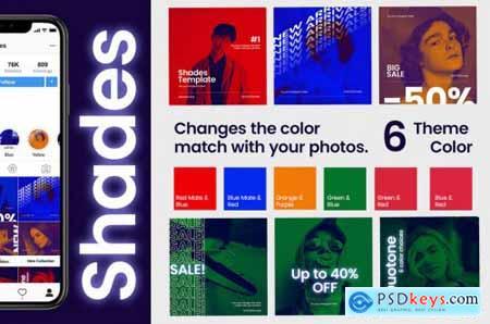 Shades Post + Story Social Media Template