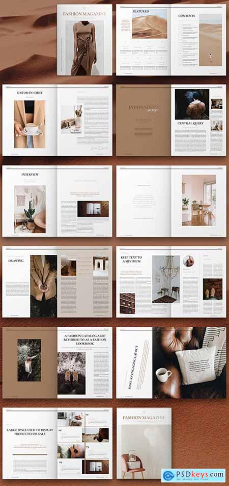 Fashion Magazine Layout 308775186