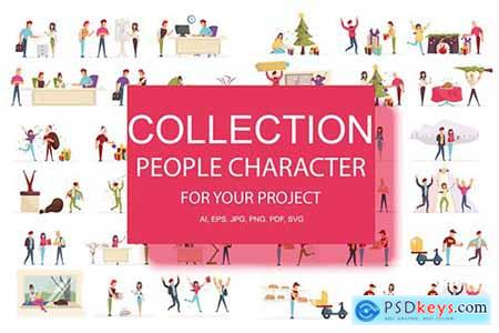 BIG Collection Cartoon People Character