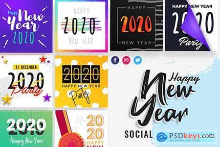 New Year Social Media Post Templates