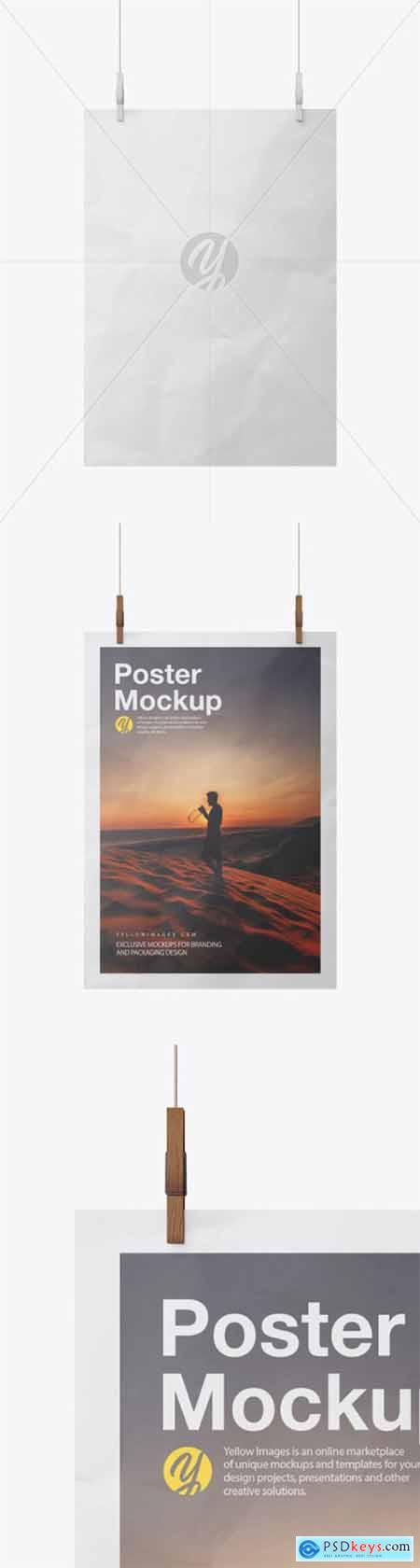 Crumpled A3 Poster Mockup 51958