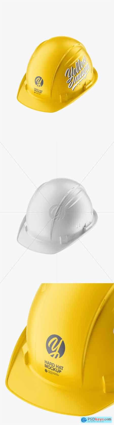 Matte Hard Hat Mockup - Half Side View 51957