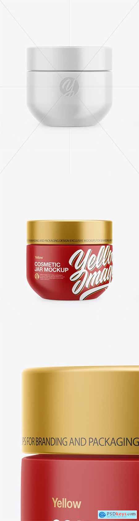 Matte Cosmetic Jar Mockup 51970