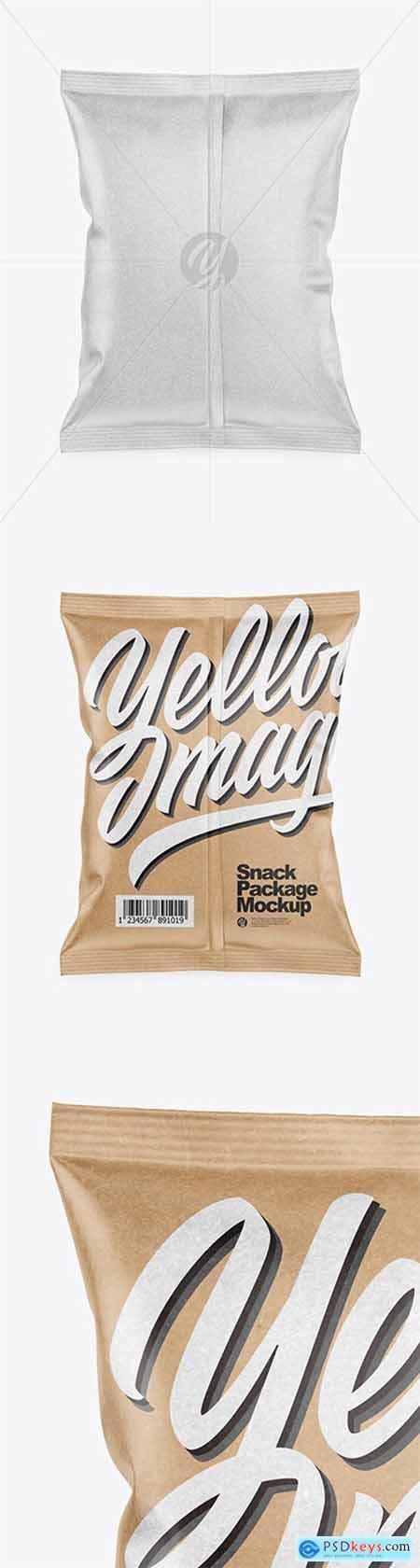 Kraft Snack Package Mockup - Back View 51959