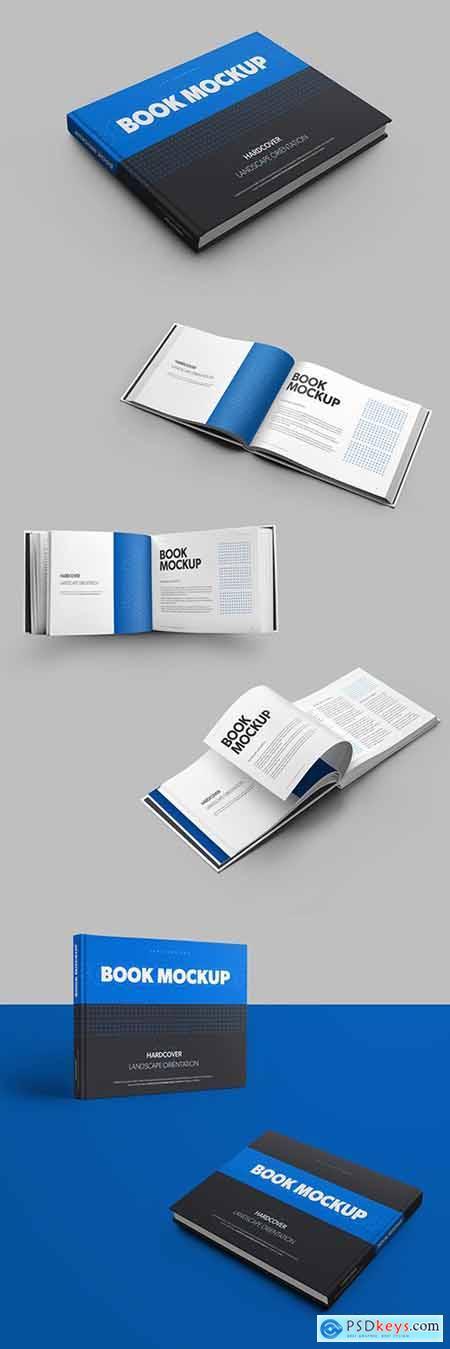 6 Mockup Set of Landscape Hardcover Books 309988799