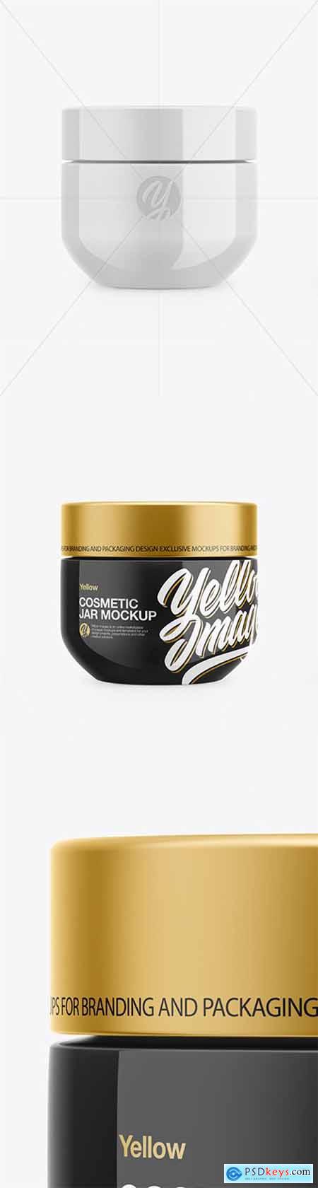 Glossy Cosmetic Jar Mockup 51919