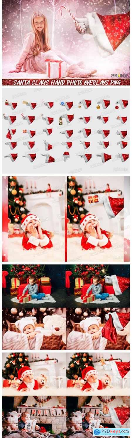 Christmas Overlays Santa Claus Hand 2320709