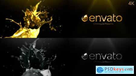 Videohive Golden & Silver Liquid Logo Reveal 25173792
