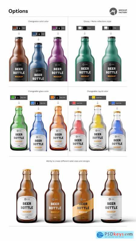 Steinie Beer Bottle Mockup 4335055