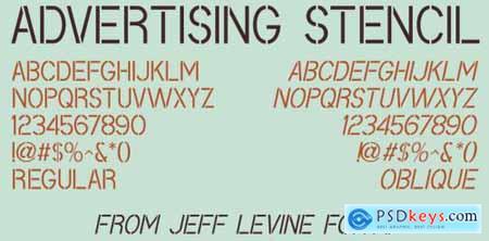 Advertising Stencil JNL Complete Family