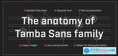 Tamba Sans Complete Family