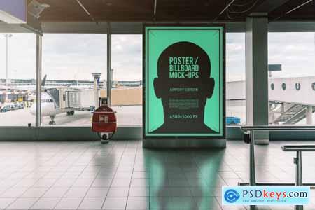 Poster Billboard Mock-ups - Airport Edition