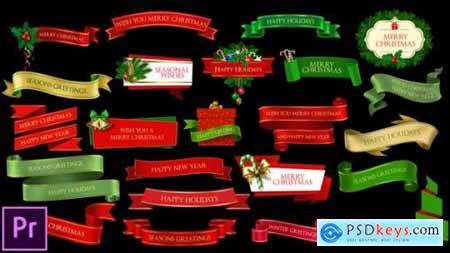 Videohive Christmas Lowerthirds and Banners 25319265