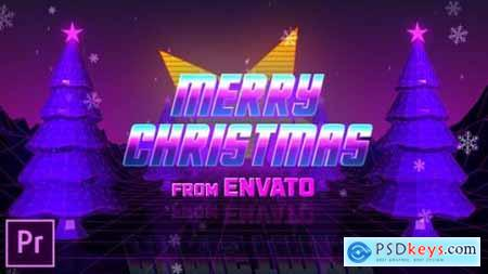 Videohive Retro 80s Christmas Wishes Premiere Pro 25319304