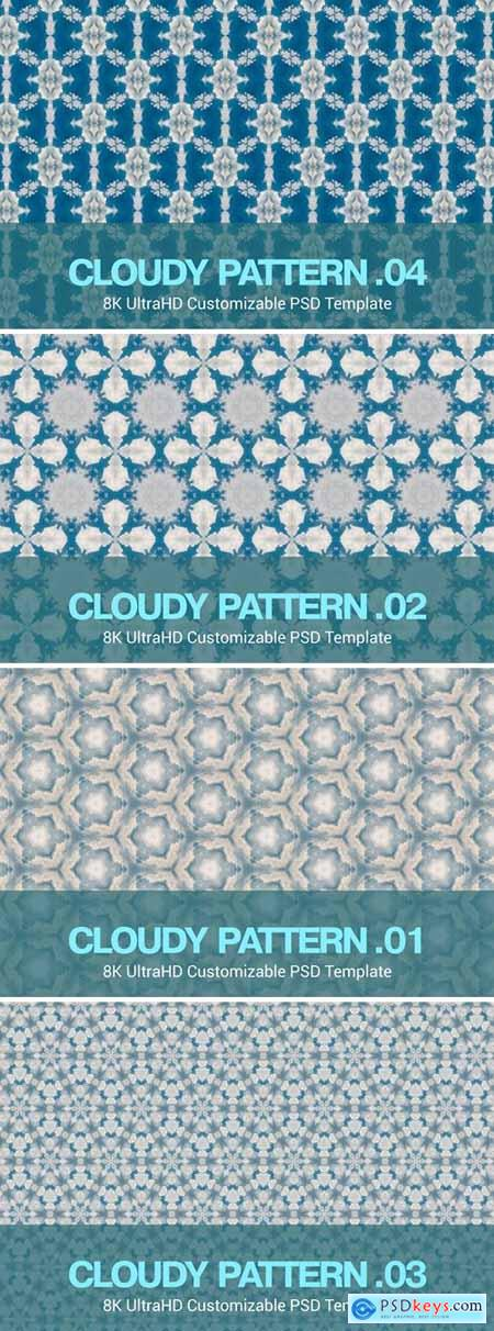 8K UltraHD Seamless Cloudy Pattern Background