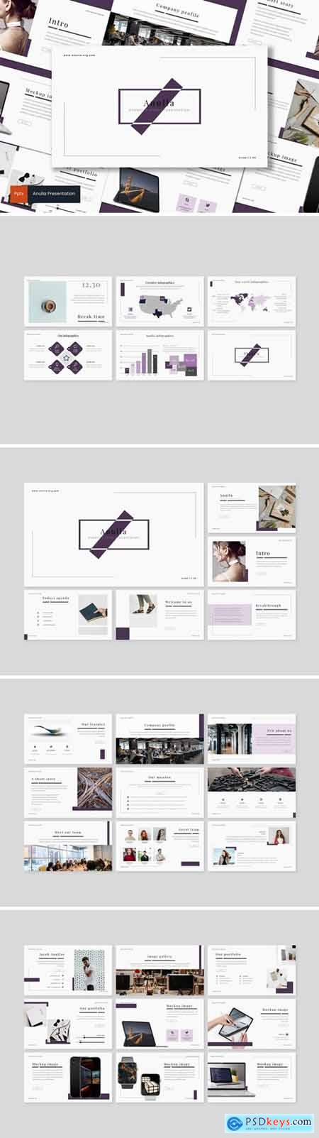 Anulla Powerpoint, Keynote and Google Slides Templates
