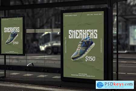 Sneaker Shoes - Product Promotion Poster RB