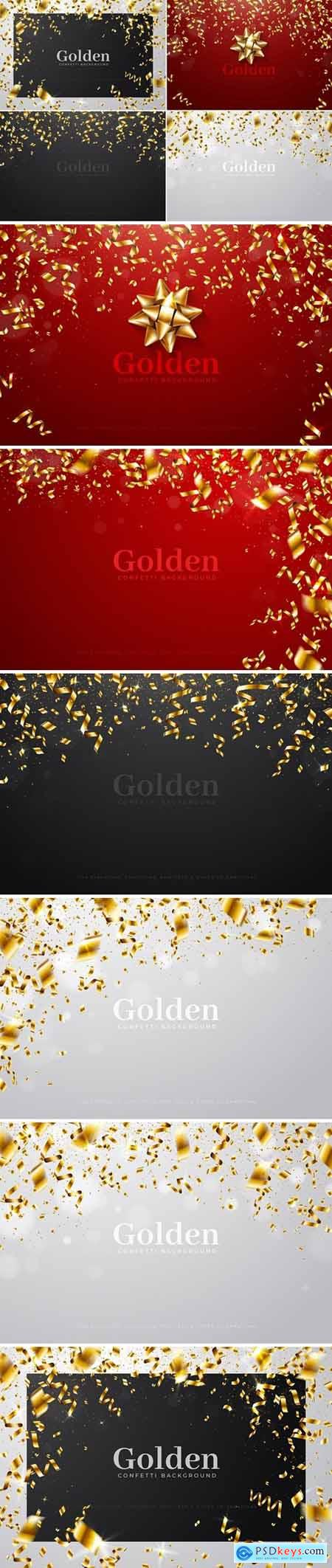 Golden Confetti Backgrounds